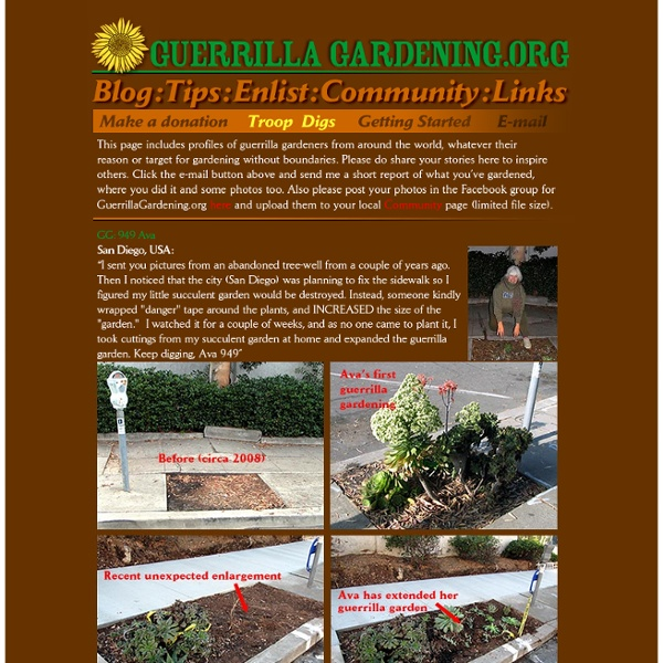 Guerrilla Gardening Troop Digs