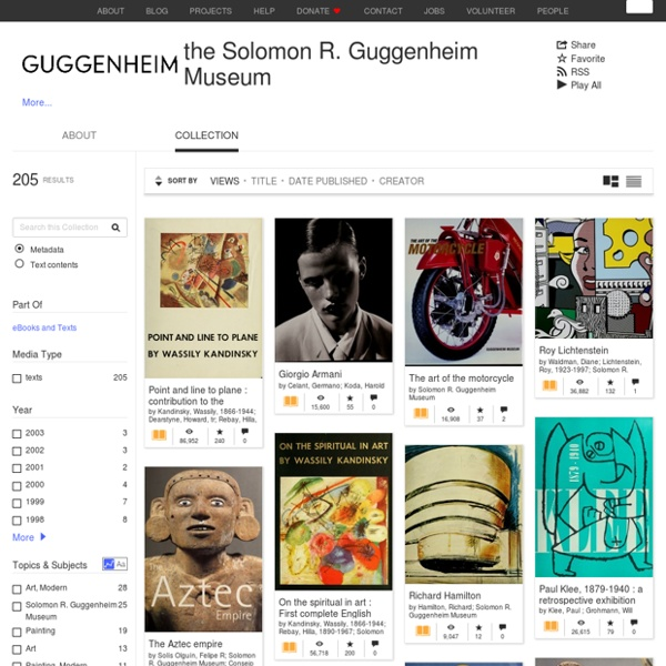 The Solomon R. Guggenheim Museum : Free Texts : Free Download, Borrow and Streaming : Internet Archive