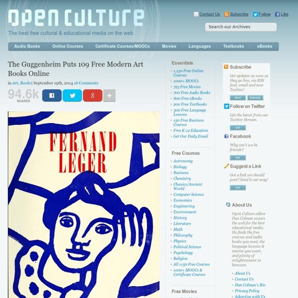 The Guggenheim Puts 109 Free Modern Art Books Online