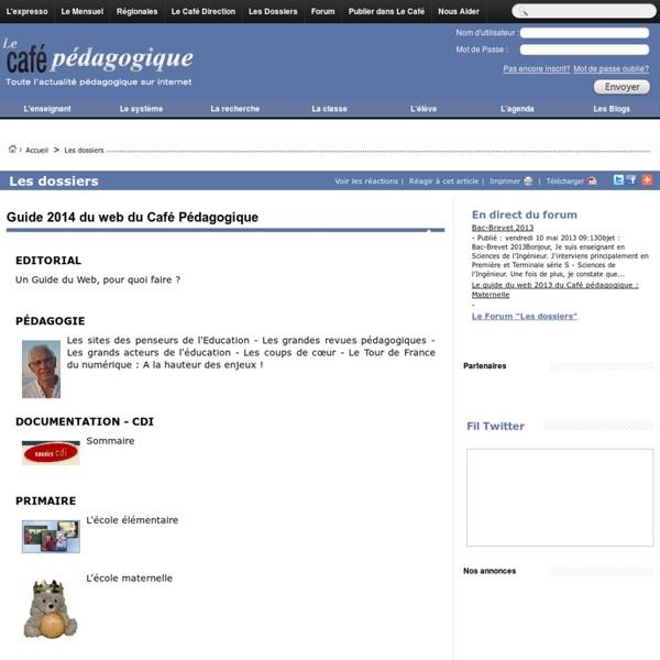 Guide 2014 du web du Café Pédagogique