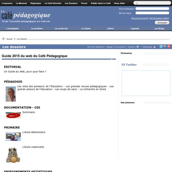 Guide 2015 du web du Café Pédagogique