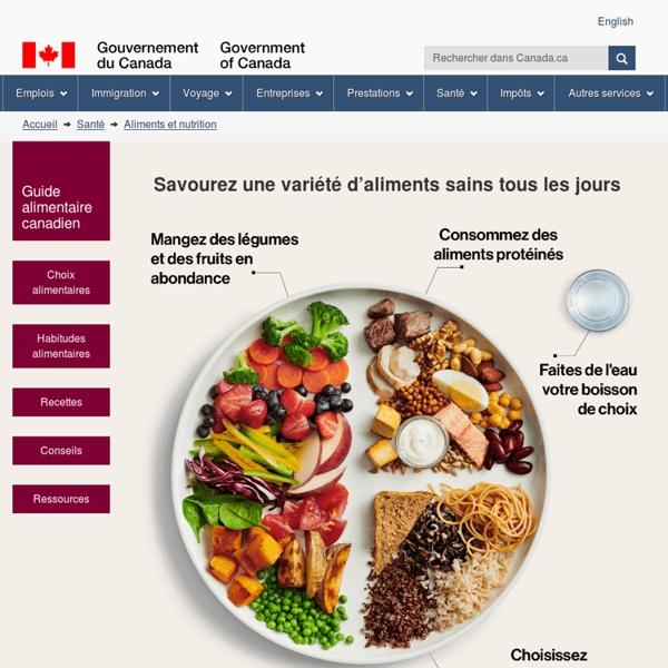 SANTE : Guide alimentaire canadien