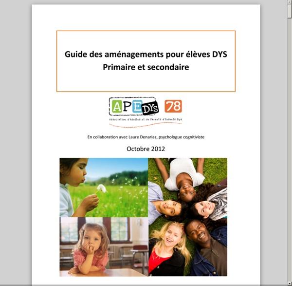 Guide des amenagements pour élèves-dys