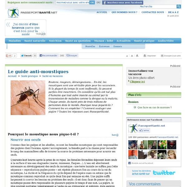 Le guide anti-moustiques