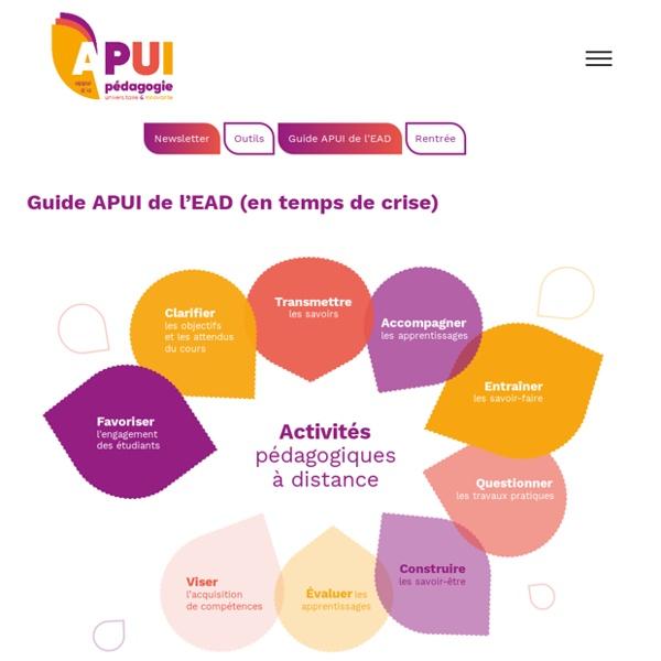 Guide APUI de l'EAD (en temps de crise) [Appui à la Pédagogie Universitaire et Innovante]