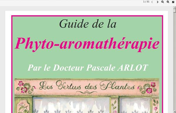 Guide aromatherapie