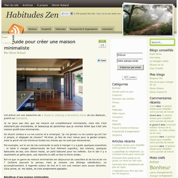 Un guide pour créer une maison minimaliste