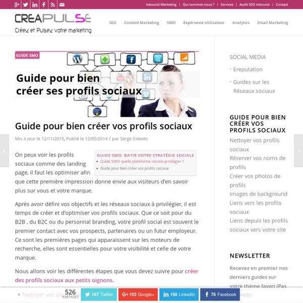 Guide pour bien créer vos profils sociaux