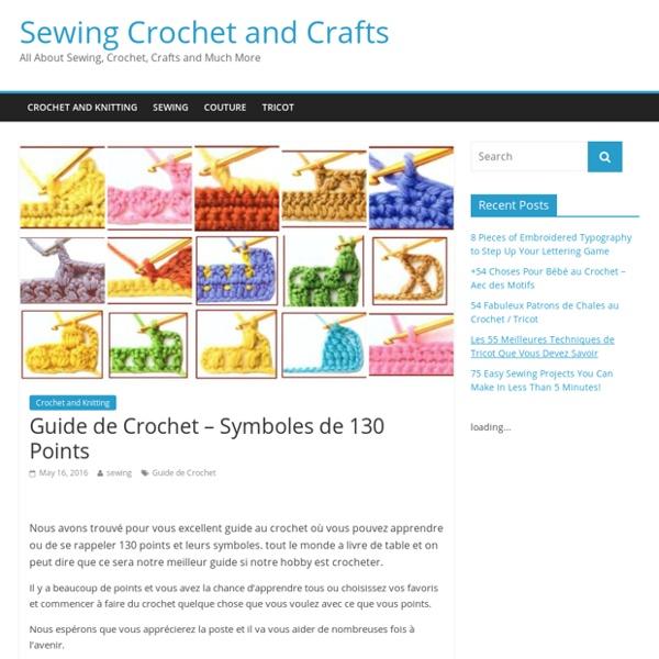 Guide de Crochet - Symboles de 130 Points