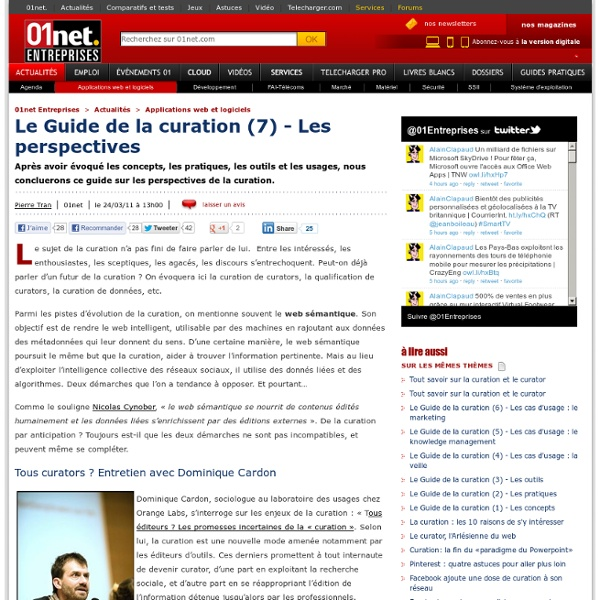 Guide Curation (7) - Les perspectives