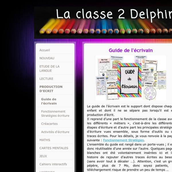 Guide de l'écrivain - laclasse2delphine !