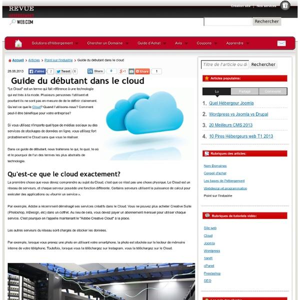 Le guide du débutant dans le Cloud Computing