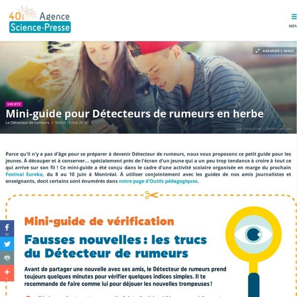 [Plaquette] Mini-guide pour Détecteurs de rumeurs en herbe