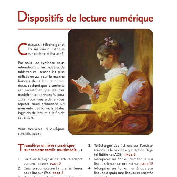 Guide pour télécharger et lire un livre numérique