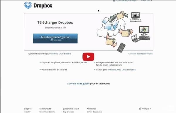 Guide Dropbox mode d'emploi