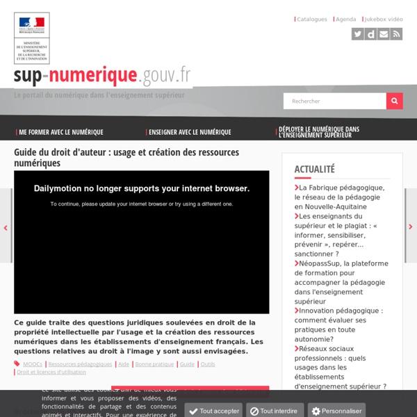 DROIT : Guide du droit d'auteur