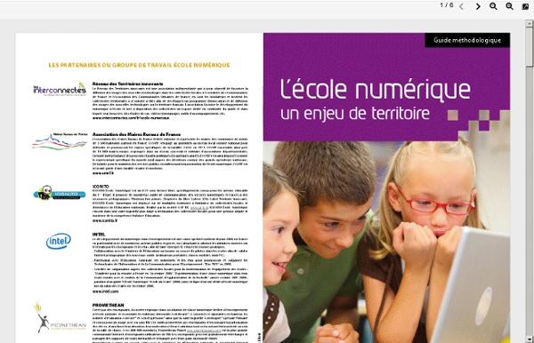 L'école numérique : un enjeu de territoire