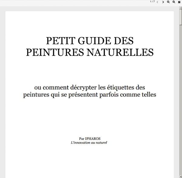 Petit guide des peintures naturelles