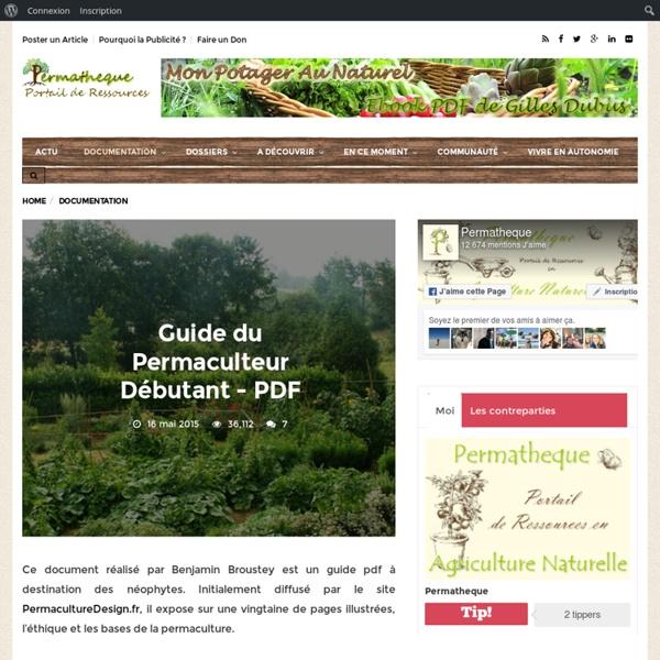 Guide du Permaculteur Débutant – PDF