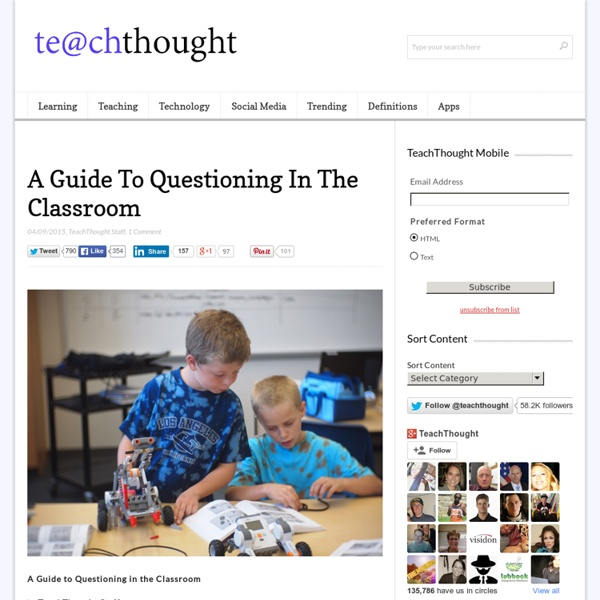 A Quick Guide To Questioning In The Classroom