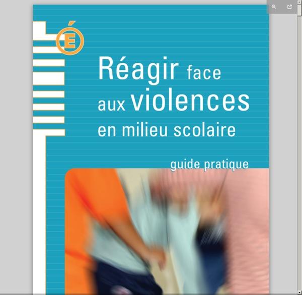 Réagir aux violences en milieu scolaire