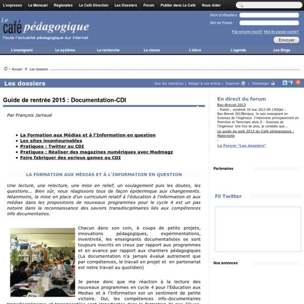 Guide de rentrée 2015 : Documentation-CDI