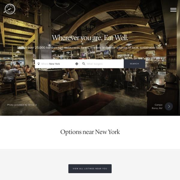 Local, Sustainable, Organic Food