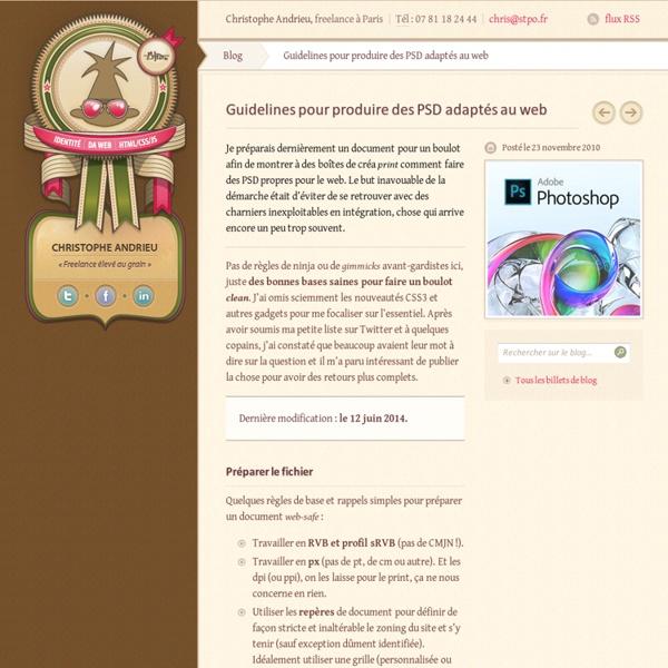 Blog › Guidelines pour produire des PSD adaptés au web