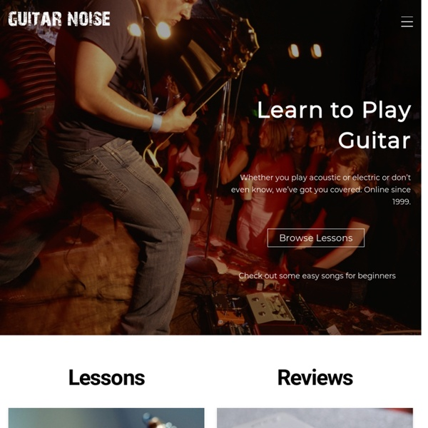 Free Guitar Lessons for Beginners and Easy Guitar Songs