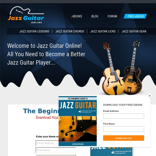 Jazz Guitar Online: Free Online Jazz Guitar Lessons, Tabs, Chords ...