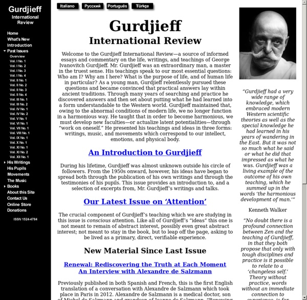 Gurdjieff International Review
