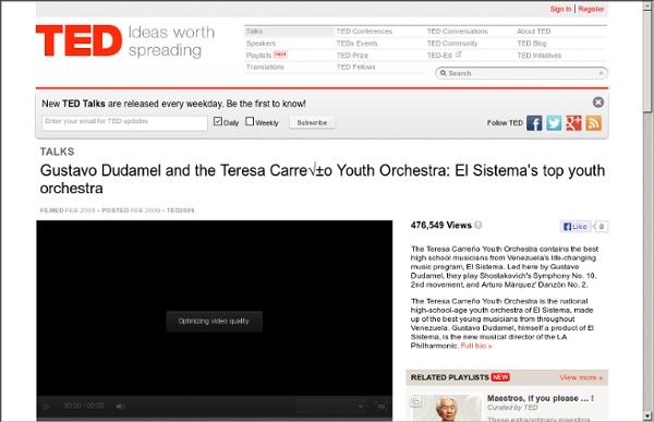 Gustavo Dudamel leads El Sistema's top youth orchestra