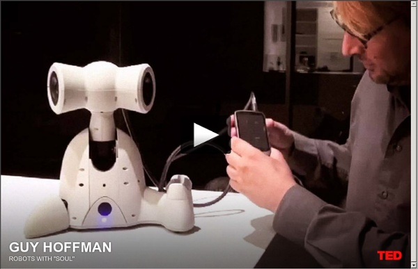 """Guy Hoffman: Robots with """"soul"""""""