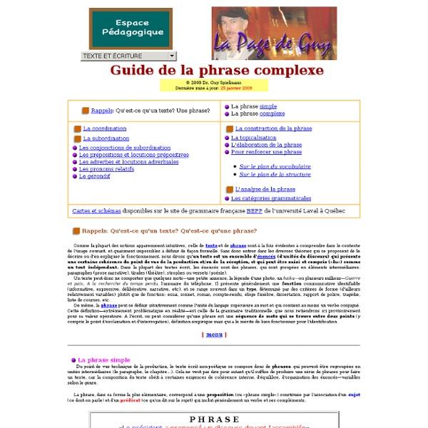 Dr. Guy Spielmann: La Phrase complexe