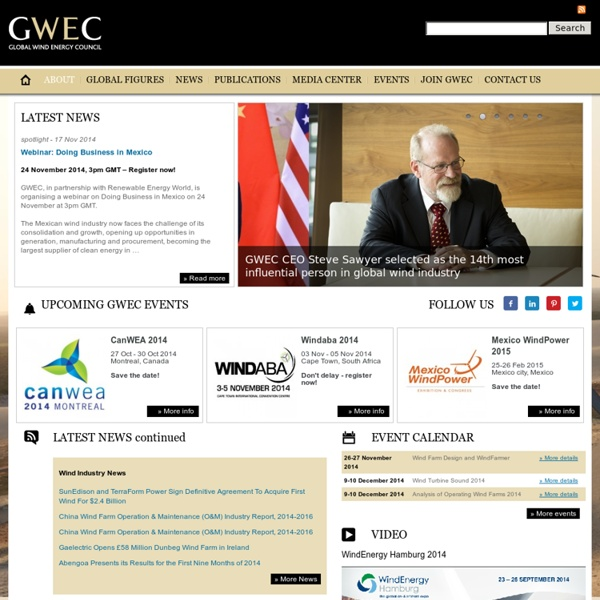 Global Wind Energy Council - GWEC: About GWEC