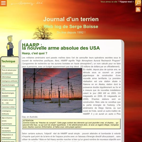 HAARP : la nouvelle arme absolue des USA