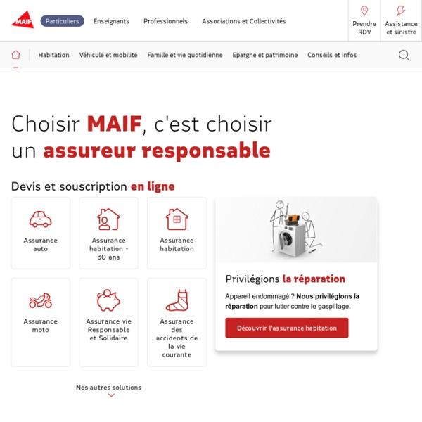 Assurance auto, habitation, santé, prévoyance - MAIF