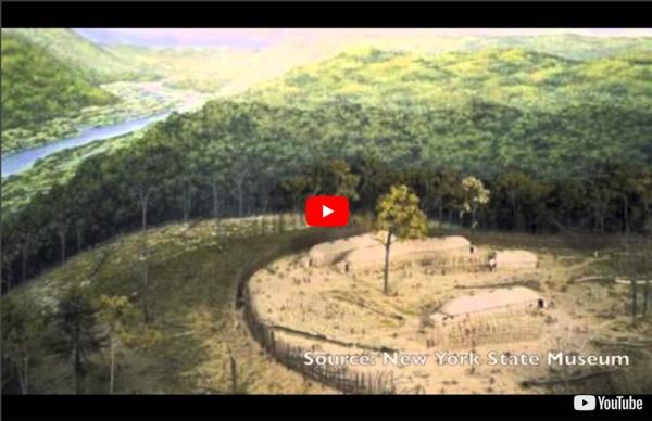 Les habitations des Iroquoiens vers 1500