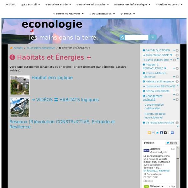 ➎ Habitats et Énergies +