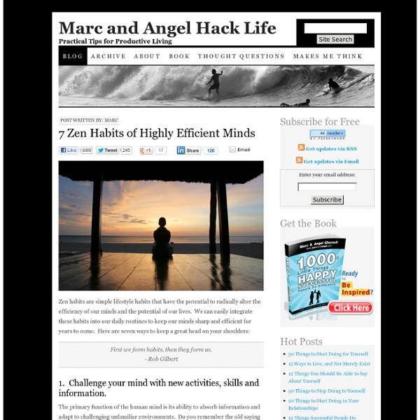 7 Zen Habits of Highly Efficient Minds