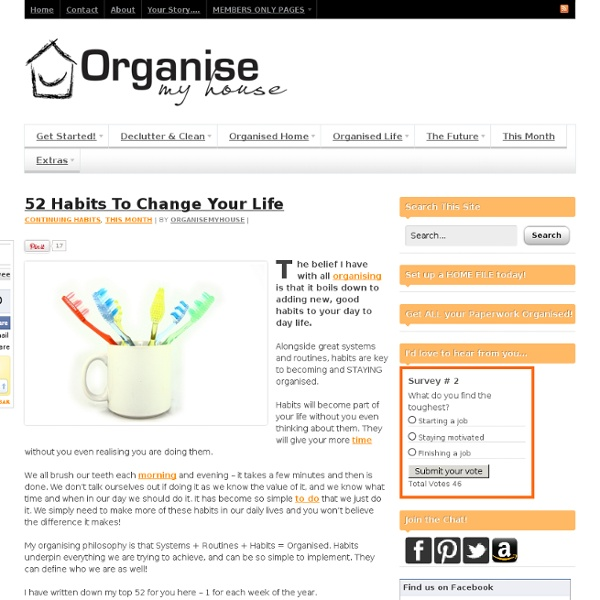 52 Habits To Change Your Life