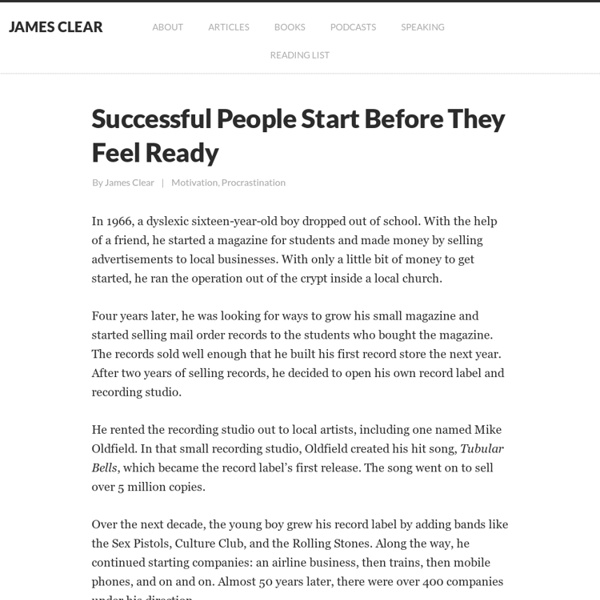 Habits of Successful People: Start Before You Feel Ready
