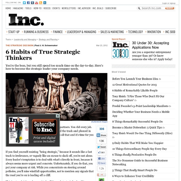 6 Habits of True Strategic Thinkers