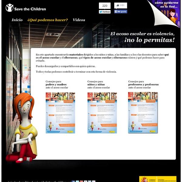 Qué hacer contra el Acoso Escolar - Save the Children España