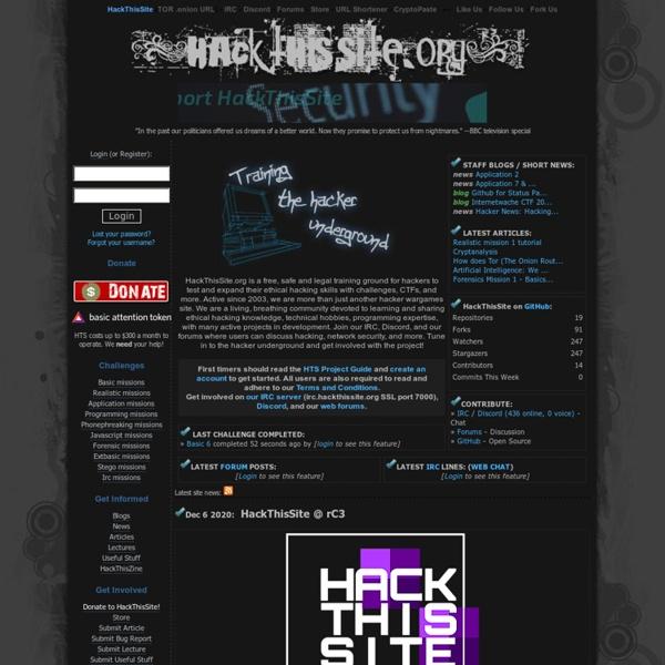 Hack This Site!