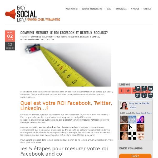 Comment mesurer le ROI Facebook et réseaux sociaux?