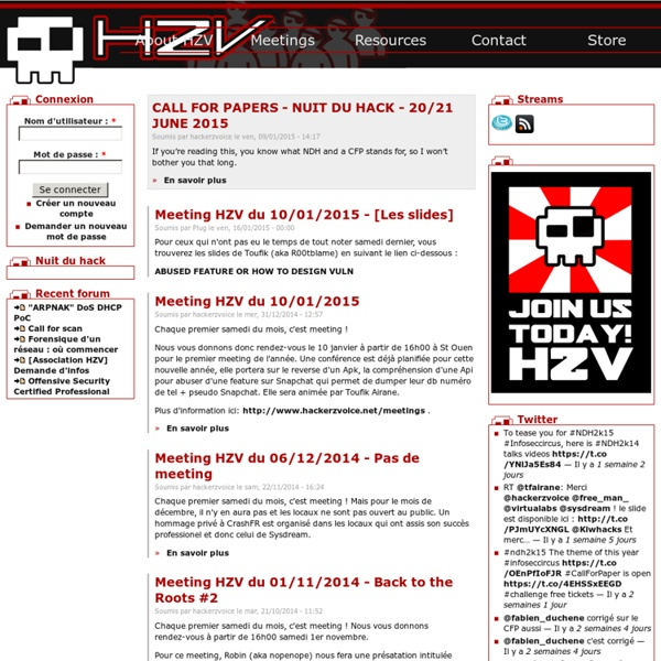 HZV / Hackerzvoice / The Hackademy
