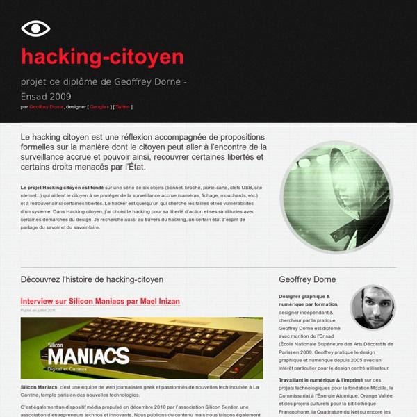 - Hacking citoyen - projet de diplôme Geoffrey Dorne - Ensad