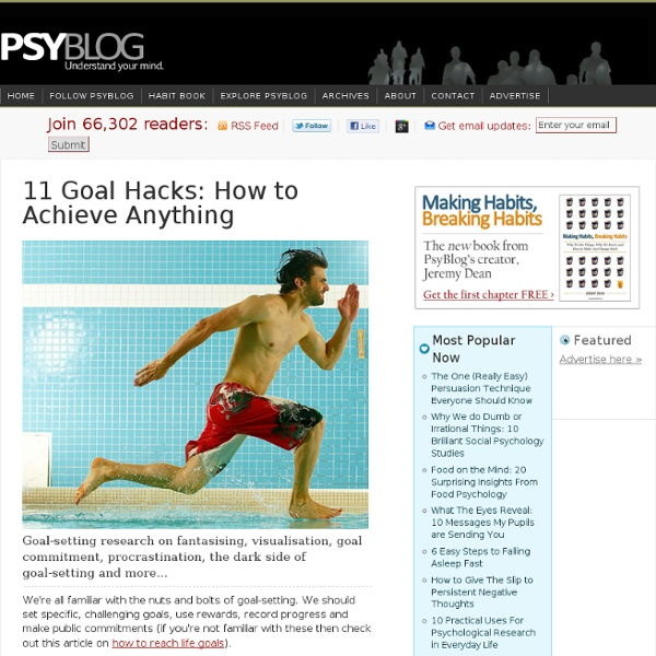 11 Goal Hacks: How to Achieve Anything