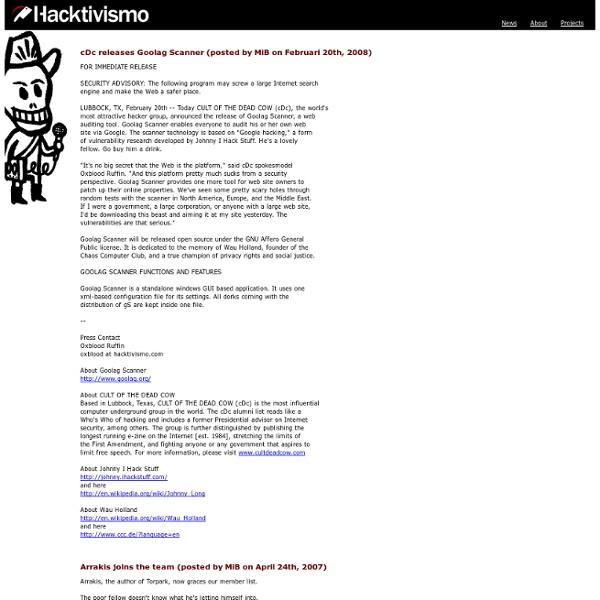 Hacktivismo: News